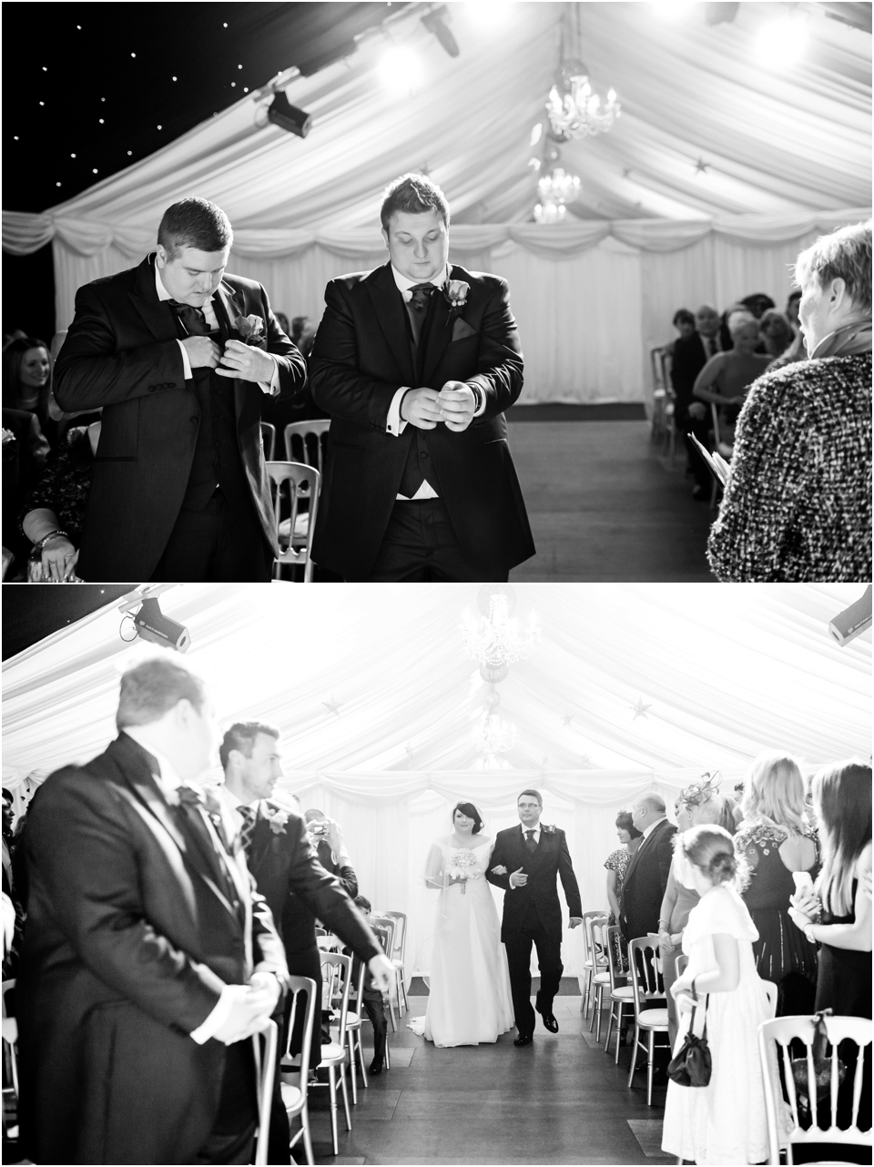 wedding ceremony at heaton house farm