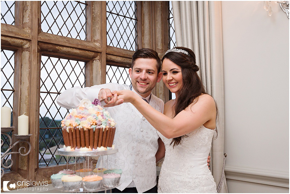 cake cutting at weston hall