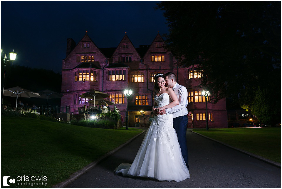 weston hall night wedding photography