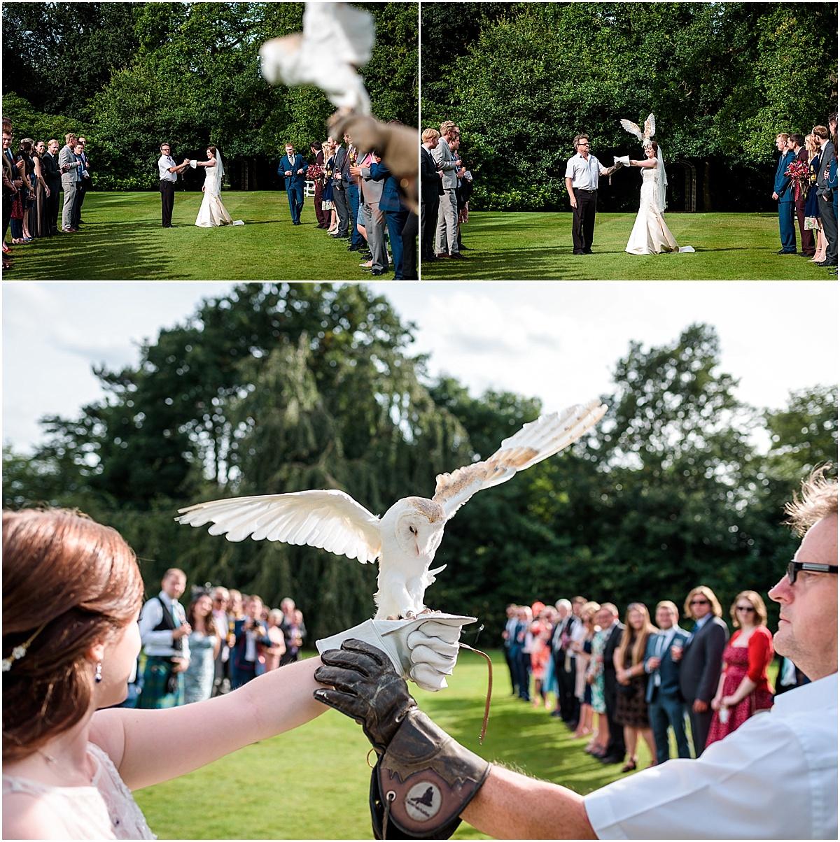 bride with birds of pray