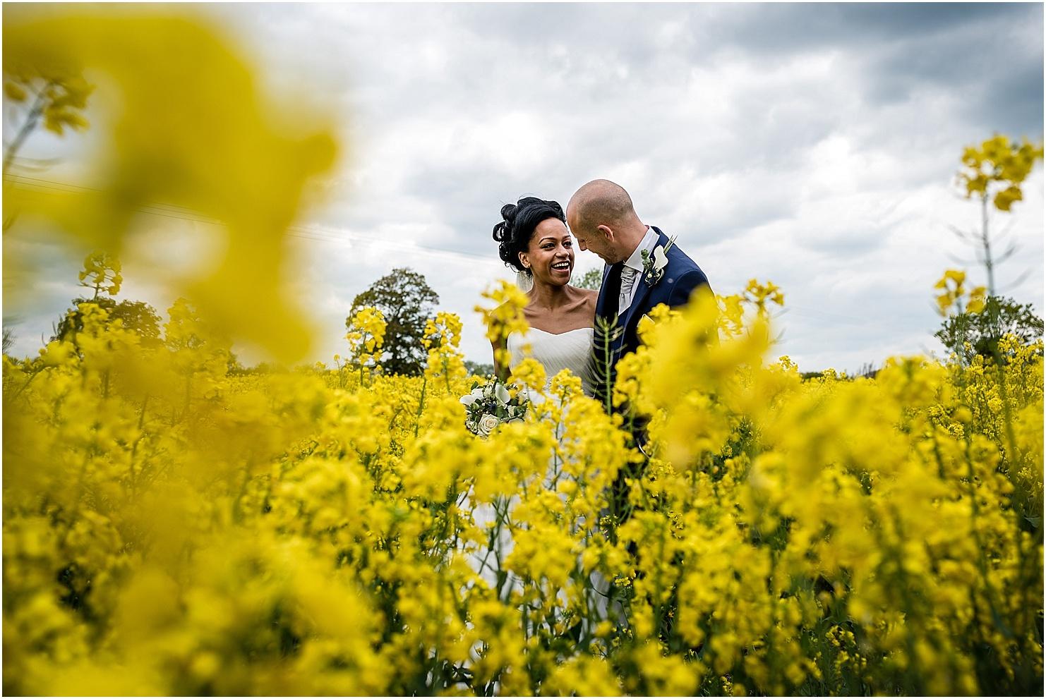 oilseed rape wedding photo