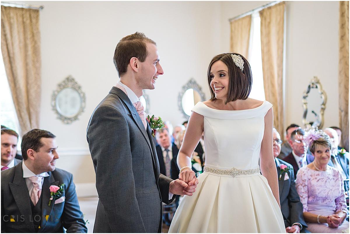 wedding ceremony at somerford hall