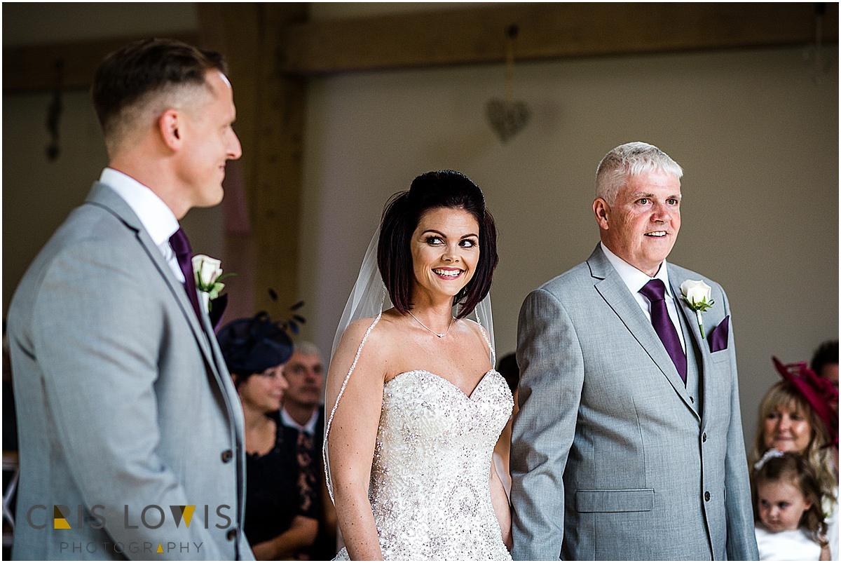 bride see's groom
