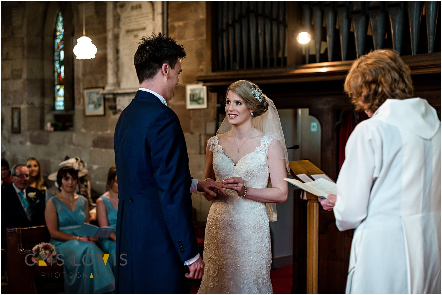 wedding ceremony at st james church