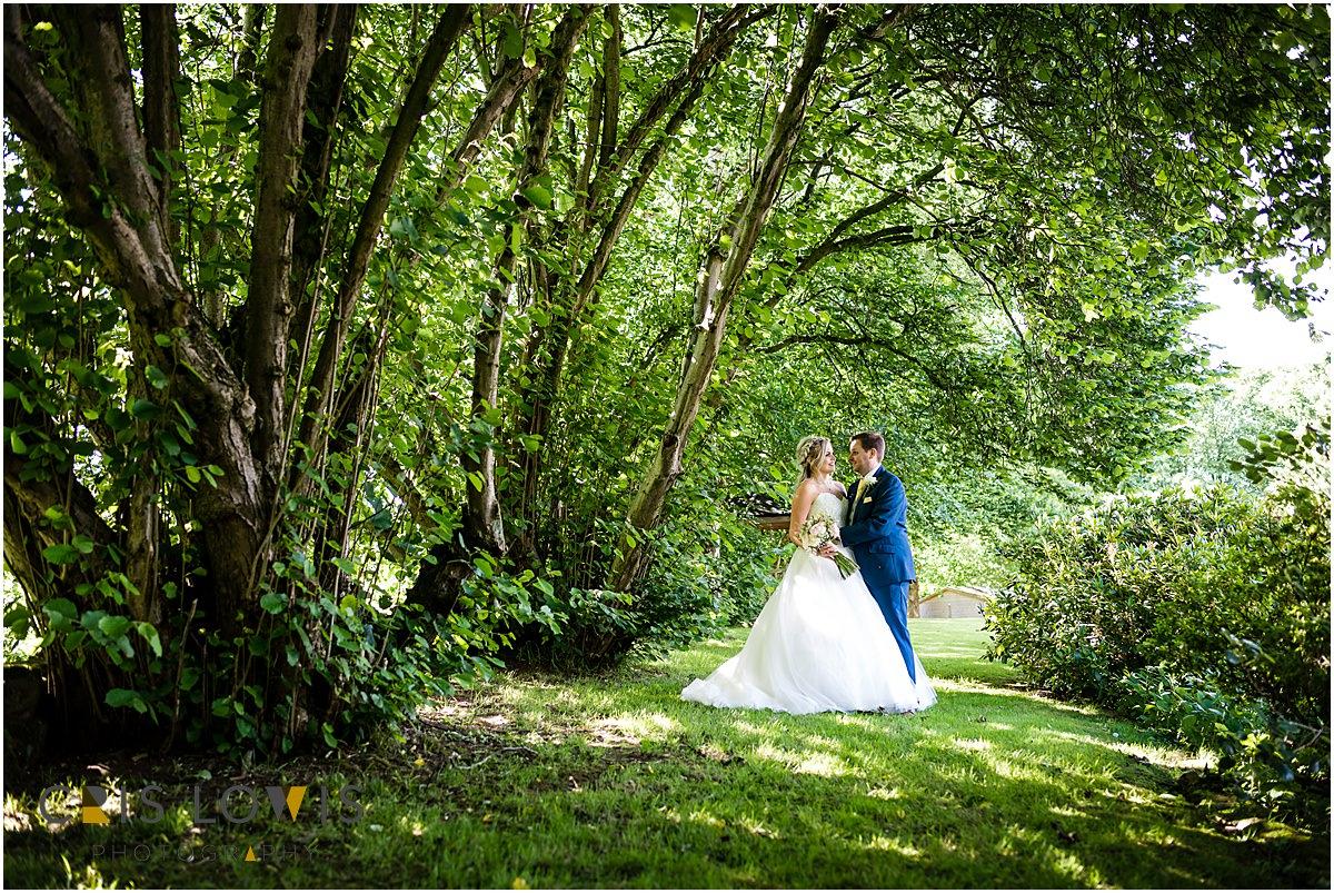 bride and groom at weston hall