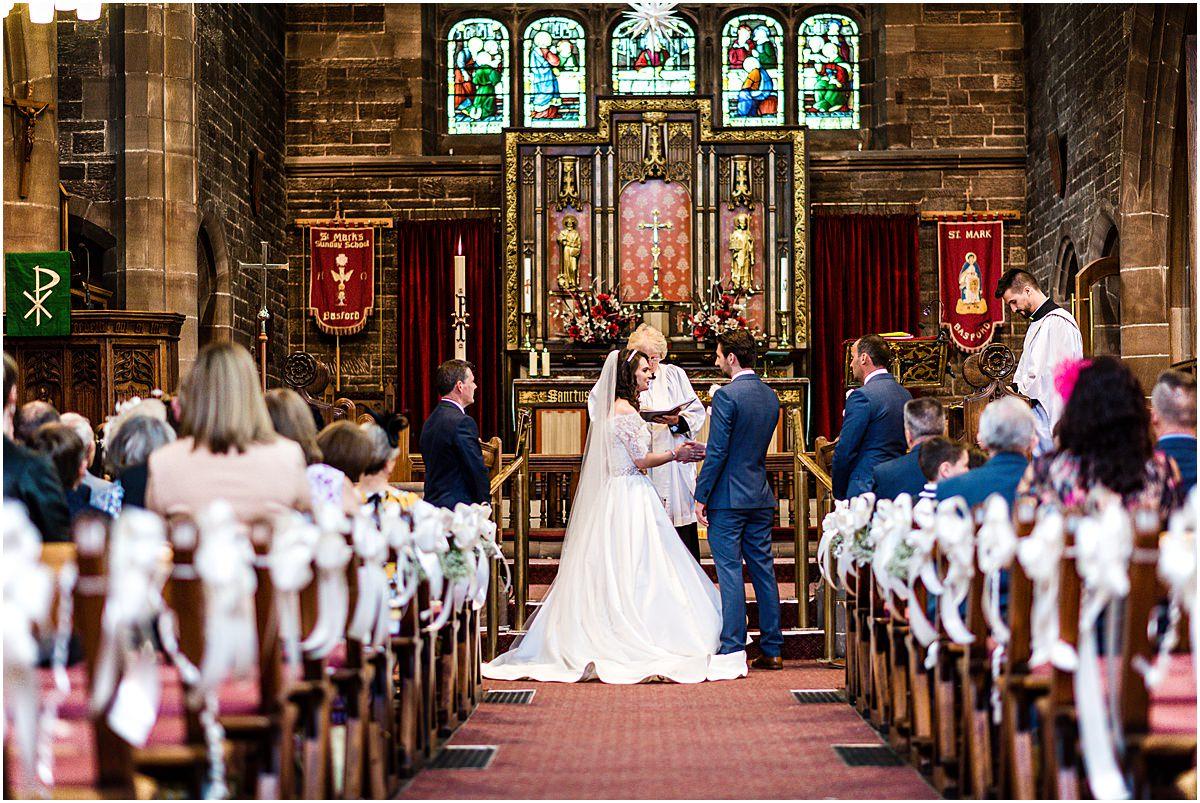 wedding ceremony at st marks basford