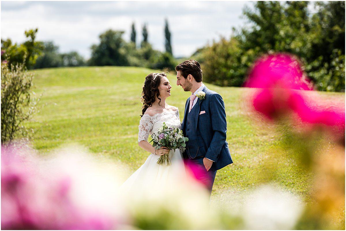 bride and groom at Aston marina