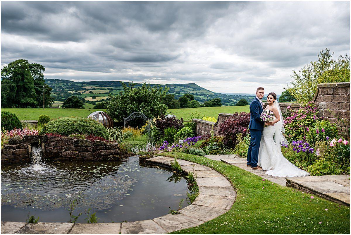 bride and groom at heaton house farm