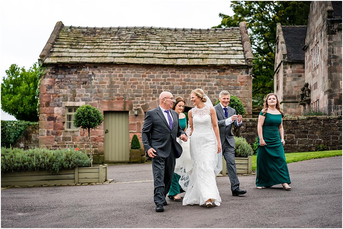 bride walking to venue