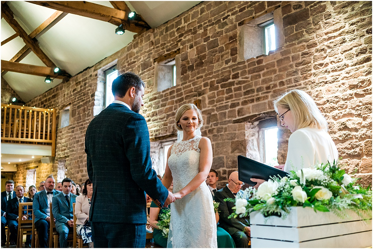 wedding ceremony at the ashes