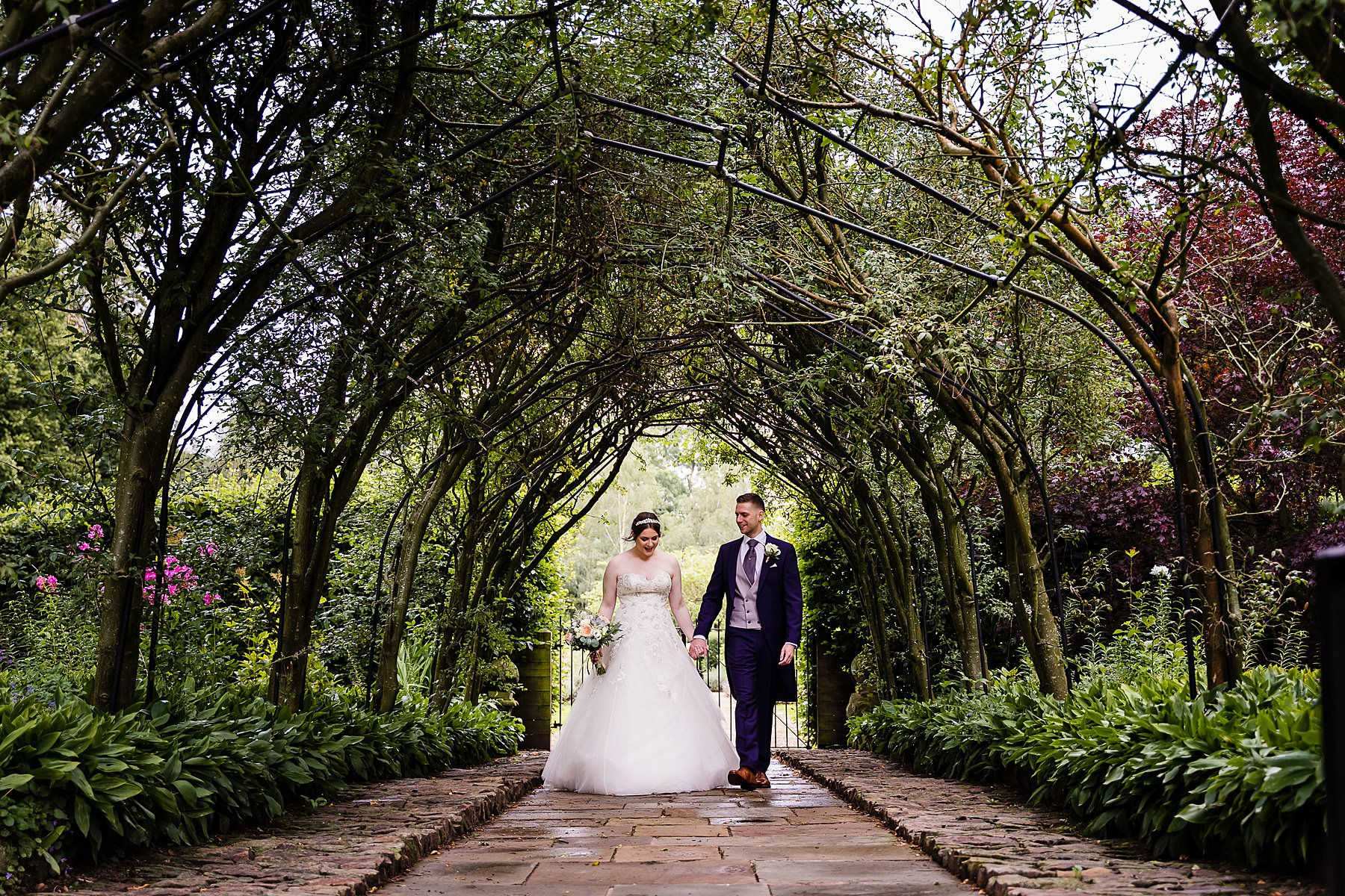 bride and groom photos at adlington hall