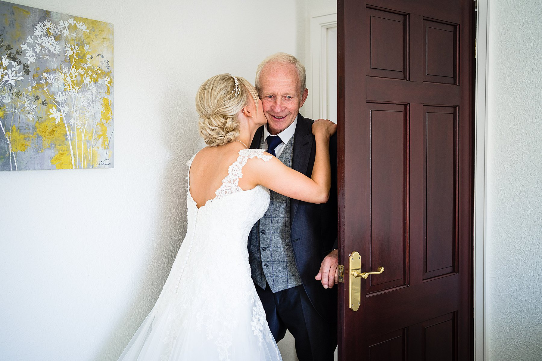 dad sees bride in dress