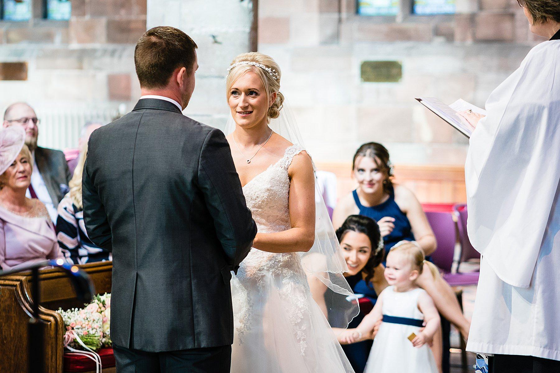 wedding ceremony at eccleshall church