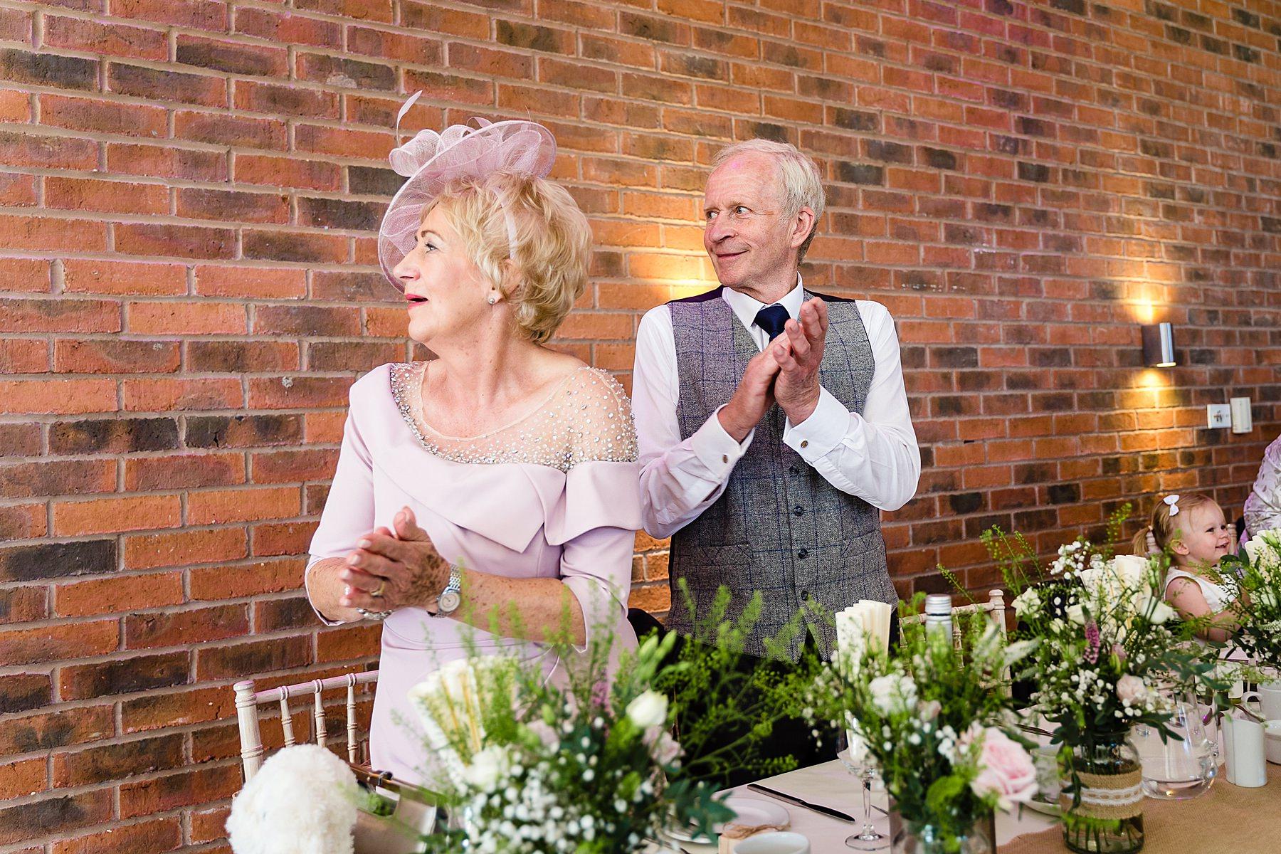 guests applaud