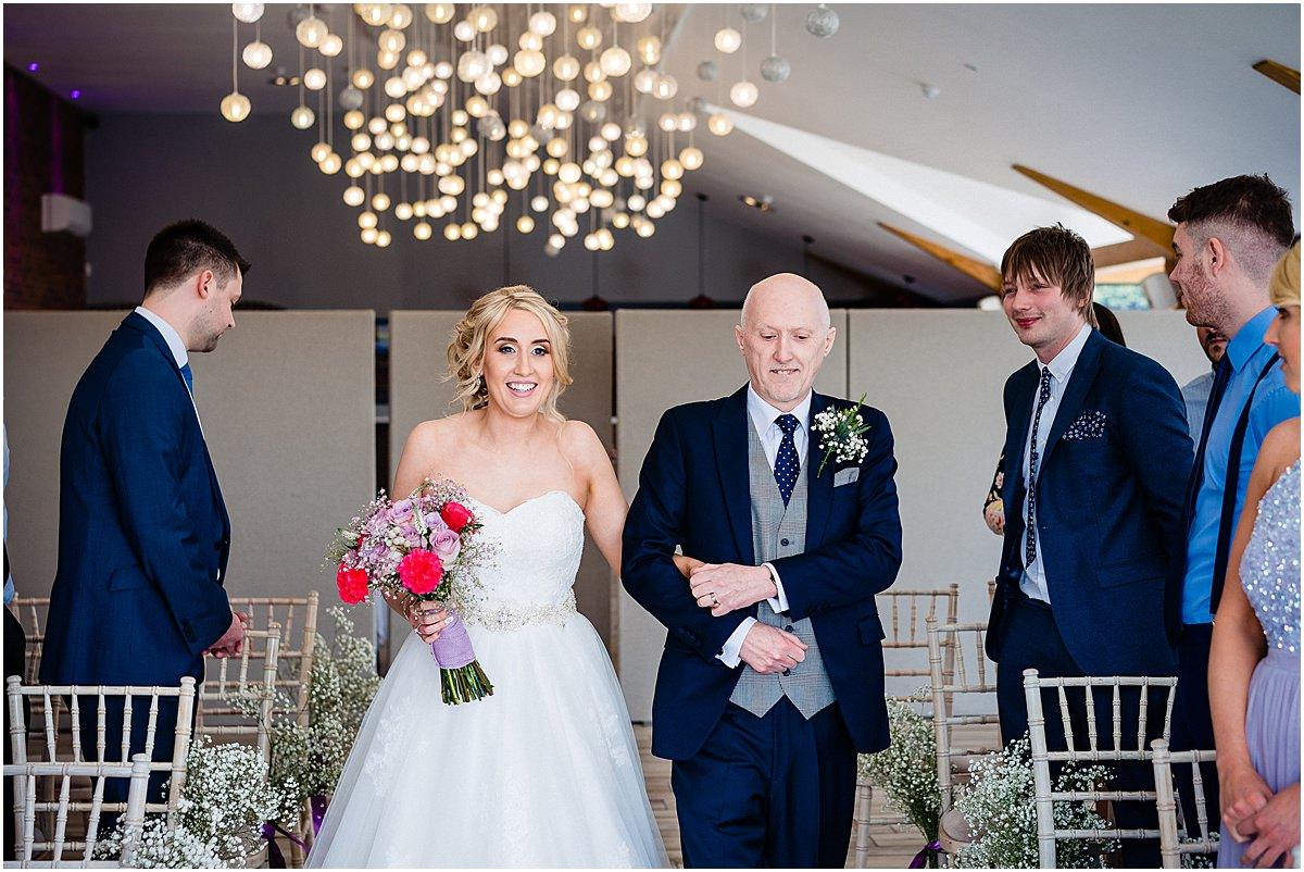 dad walks bride down the isle