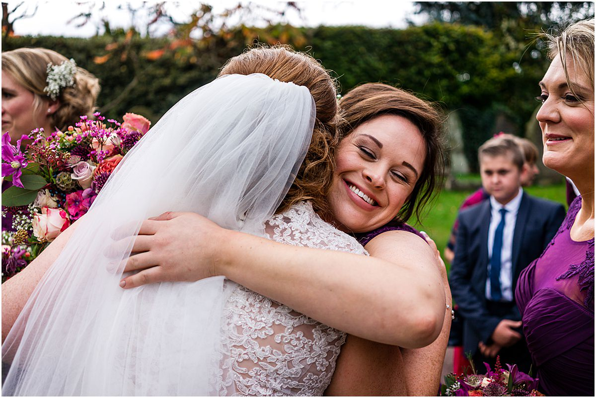 hugs after wedding