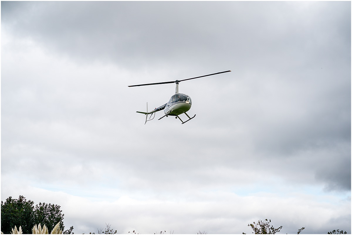 helicopter arriving at blakelands