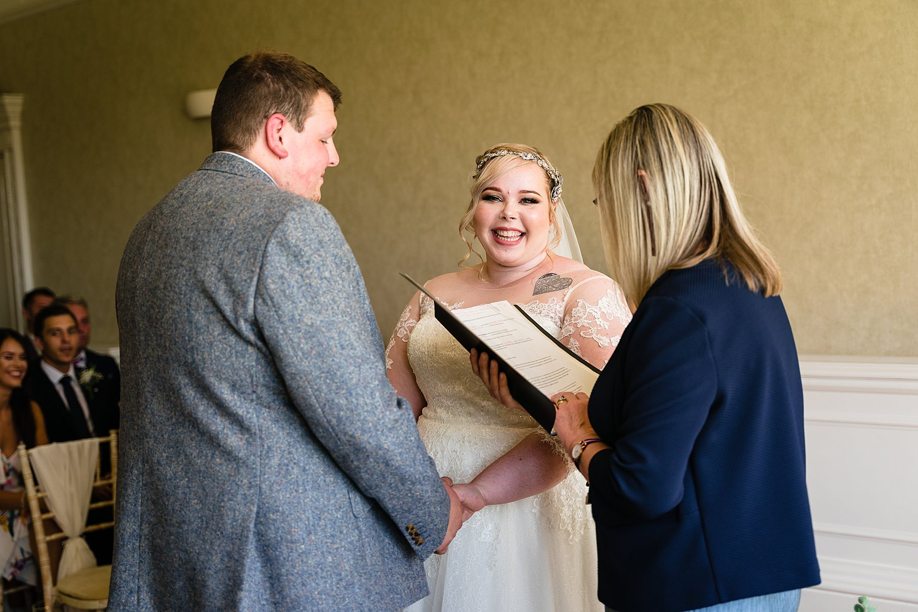 wedding ceremony at breadsall priory