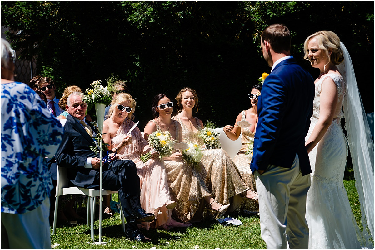 wedding ceremony at Chateau de la Couronne