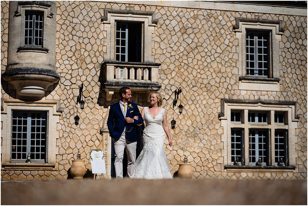 guests walking to wedding breakfast