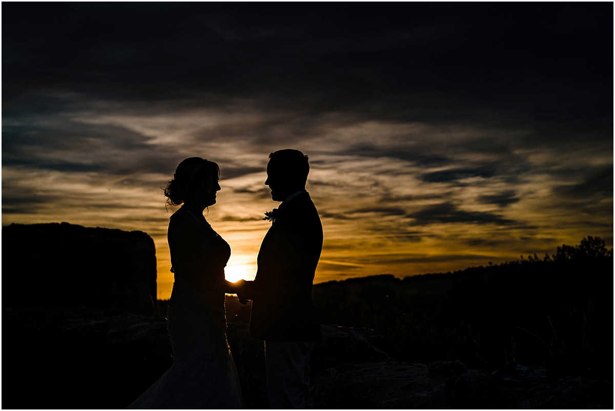 sunset photos Chateau de la Couronne wedding