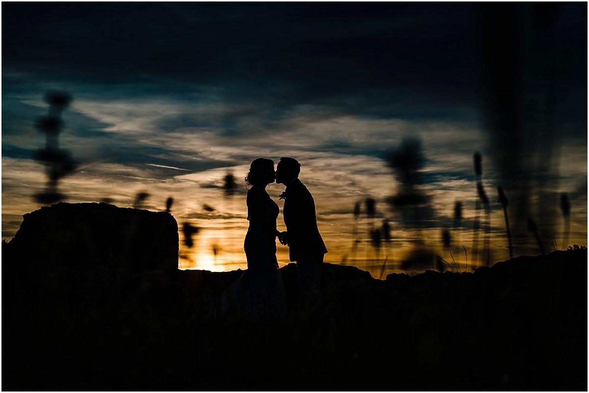 sunset photos Chateau de la Couronne wedding