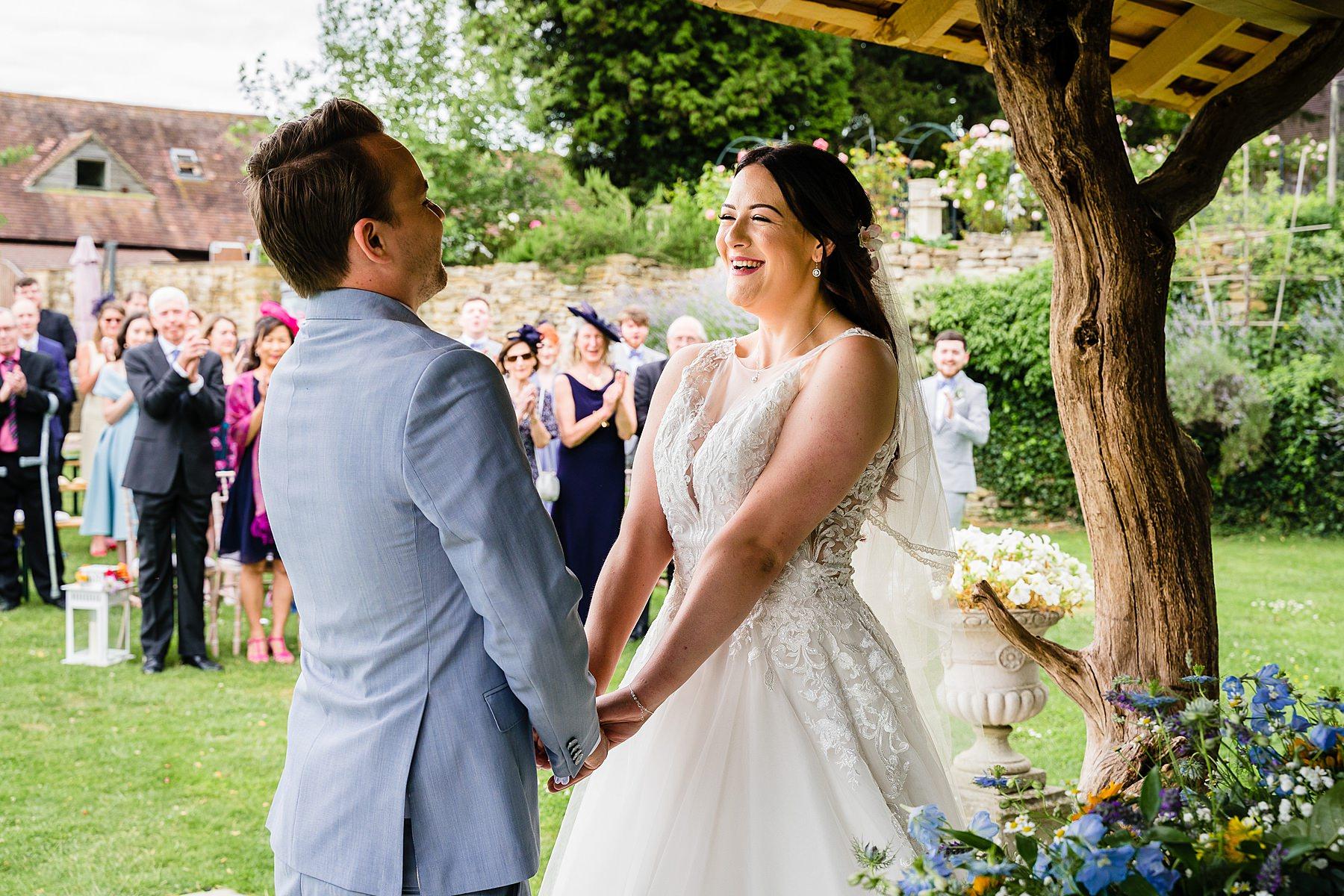 outdoor wedding ceremony at deer park