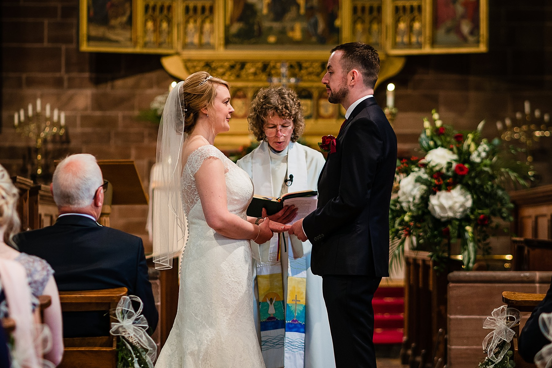 st swithuns wedding ceremony