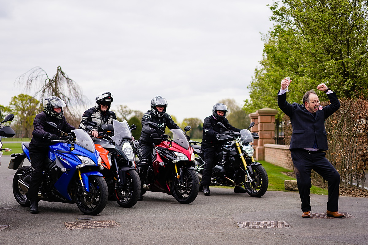 motorbikes at wedding
