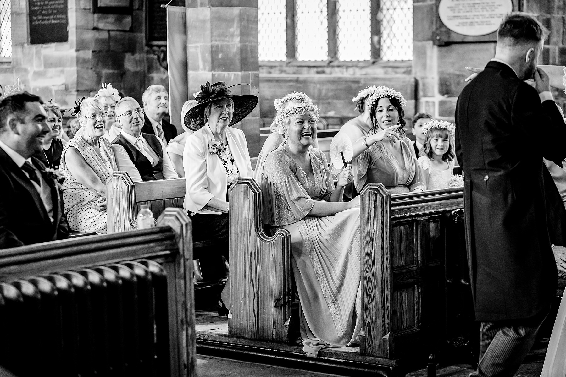 wedding ceremony at st lukes church cannock