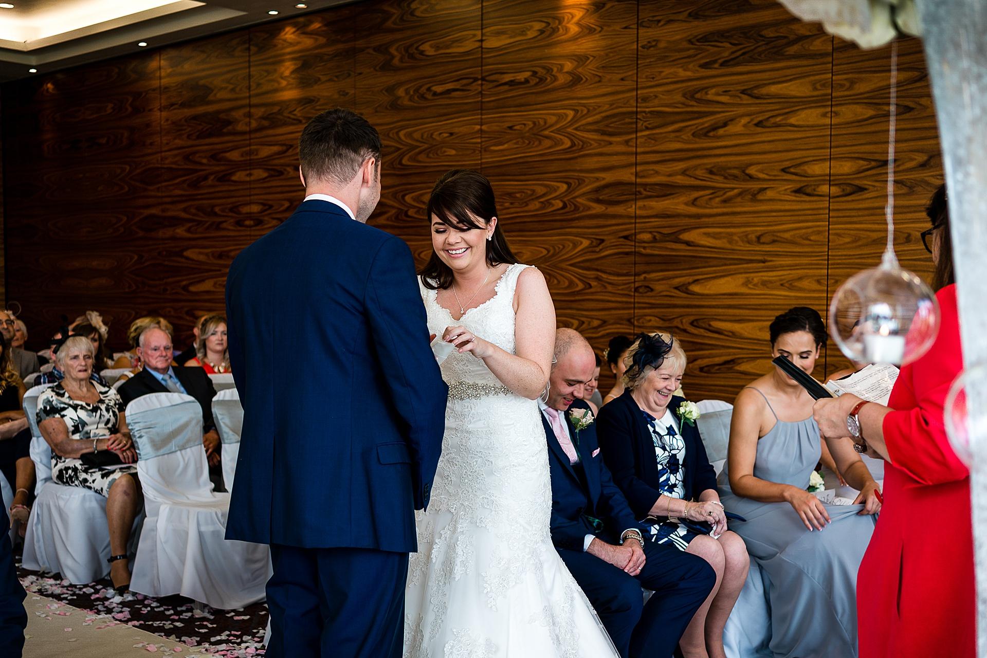 wedding ceremony at rookery hall