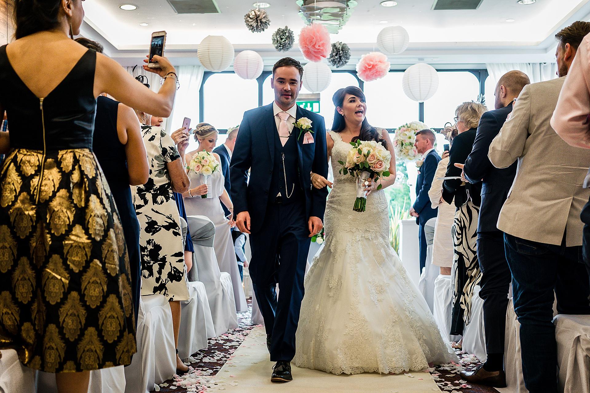 brid ean groom leaving ceremony