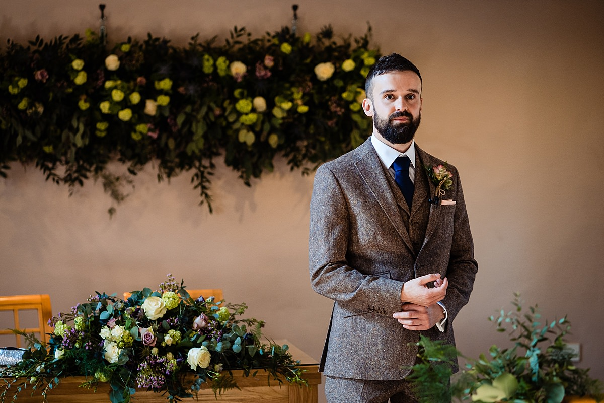 groom awaits wedding