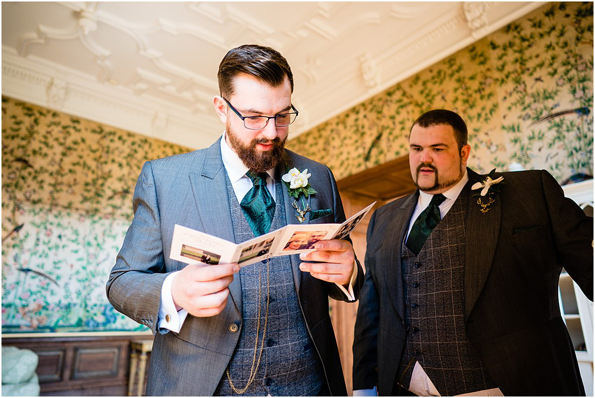 groom receives gift