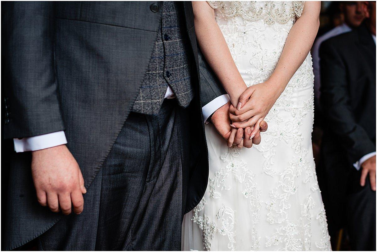 wedding ceremony at sandon hall