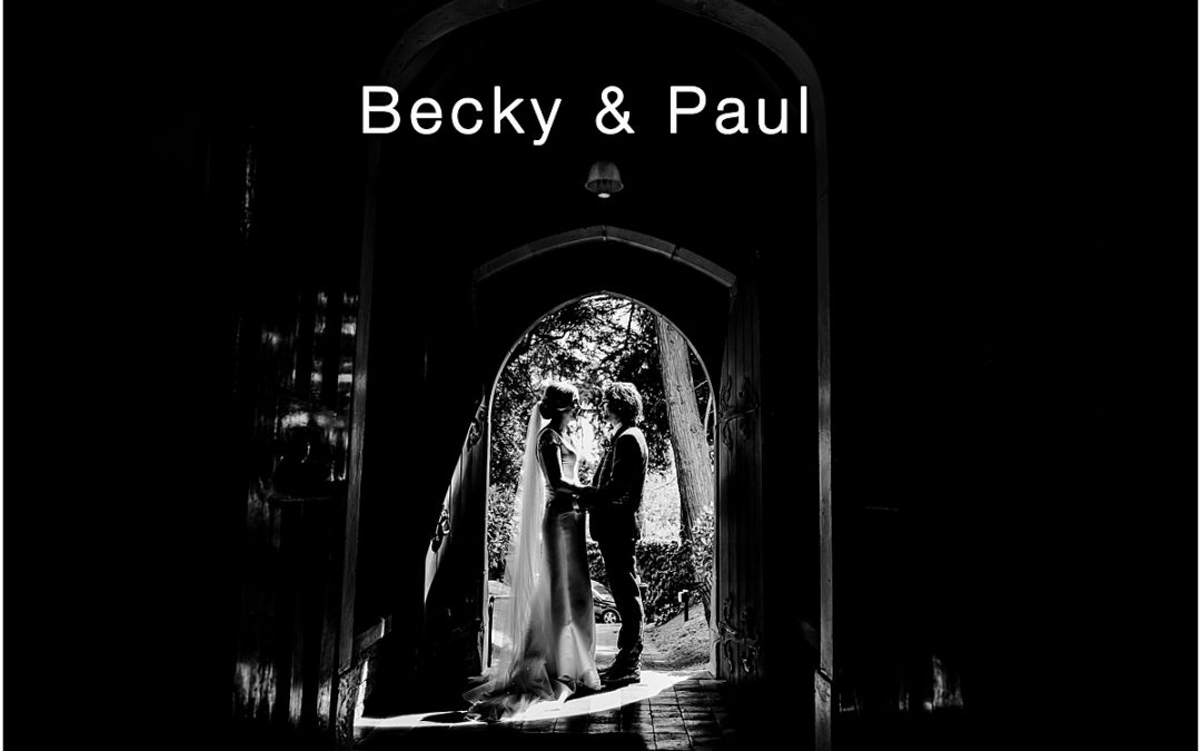 Becky and Paul's unique Staffordshire wedding