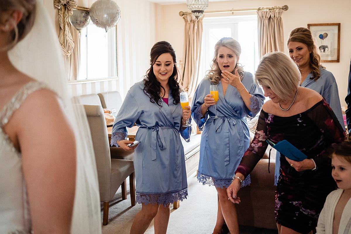 bridesmaids react to the dress