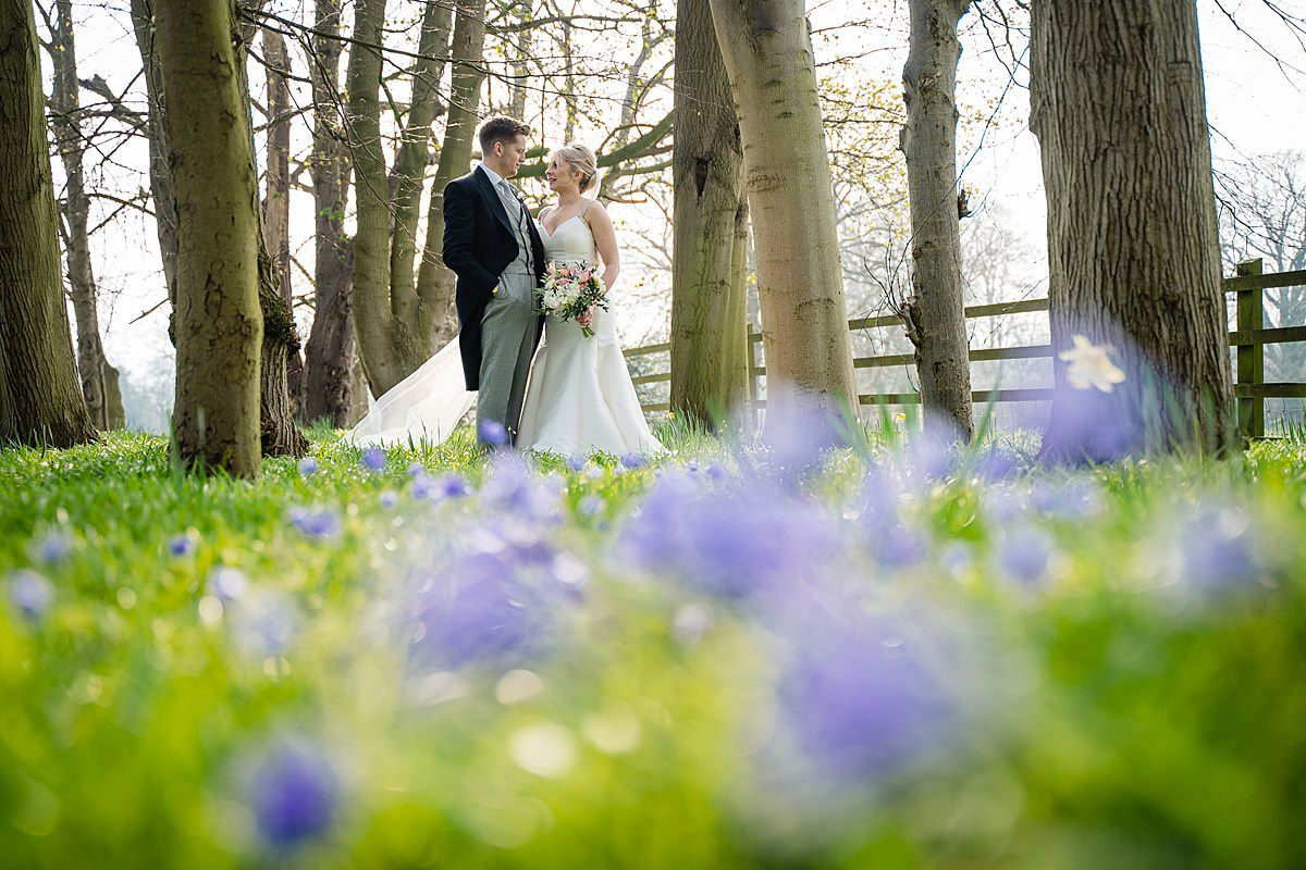 bride and groom photos at tern hill hall