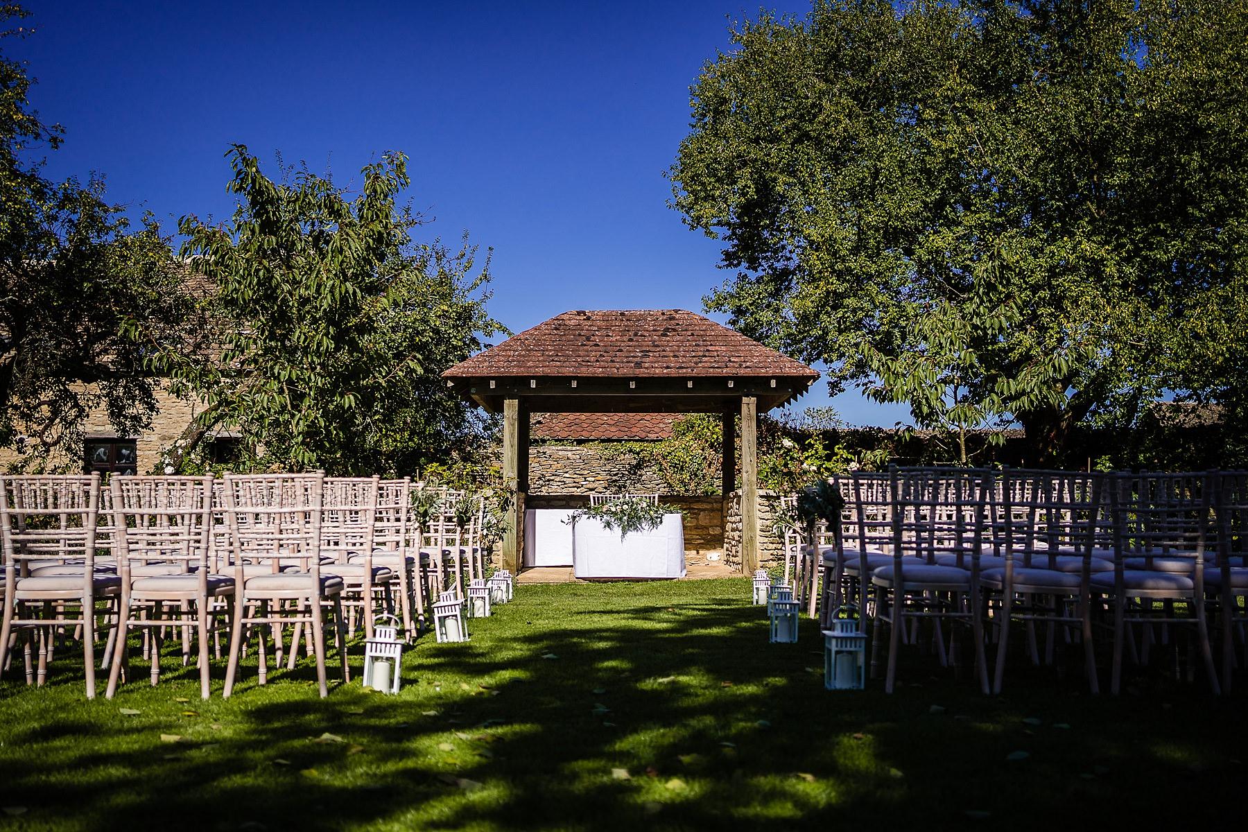 outdoor ceremony location