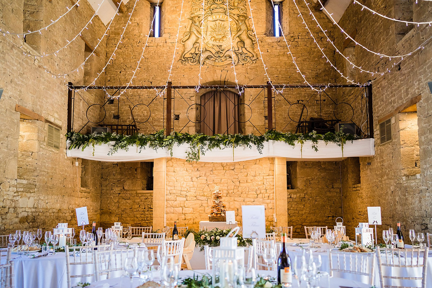 great tythe barn wedding breakfast room