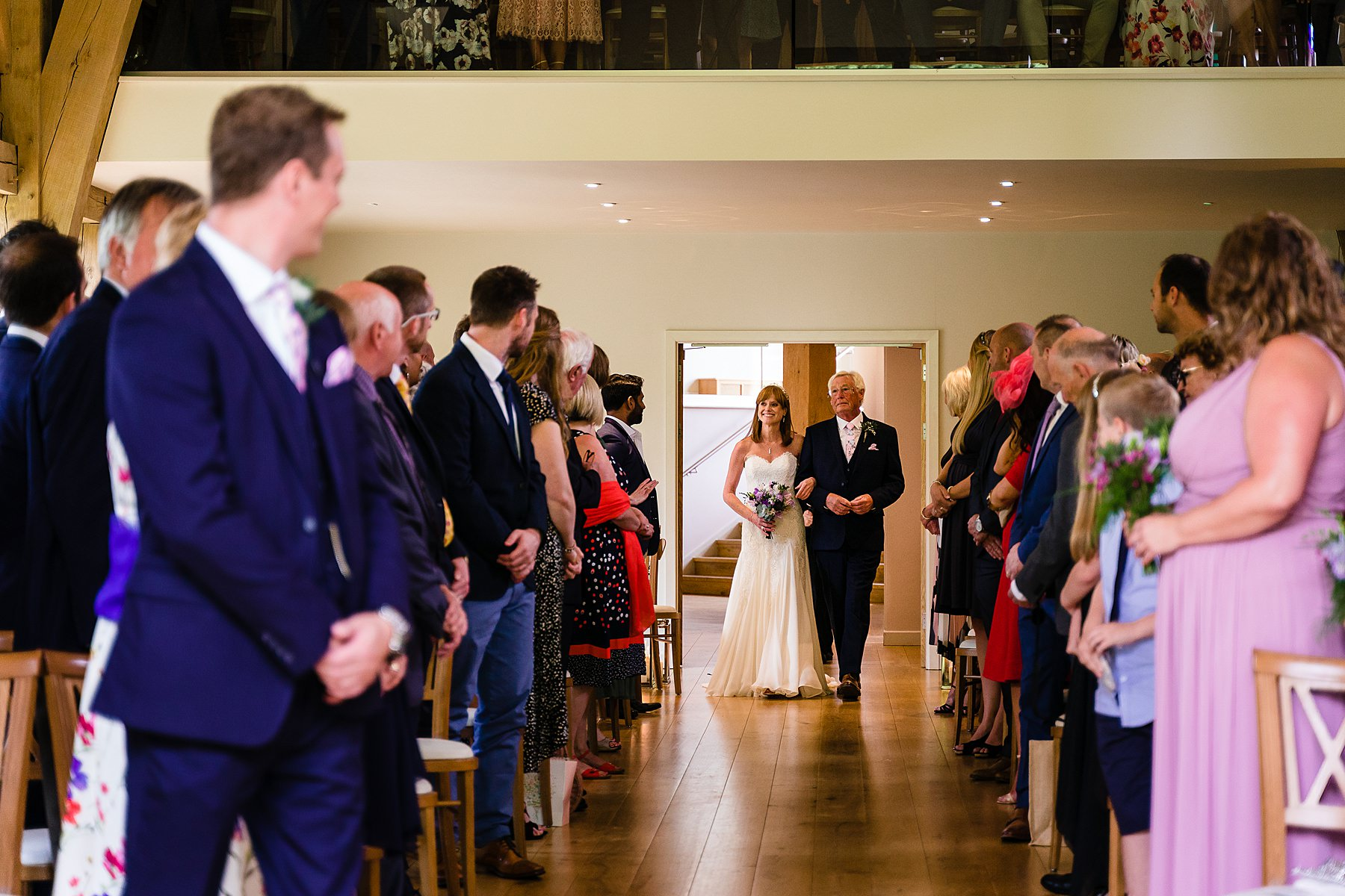 wedding ceremony at the mill barns