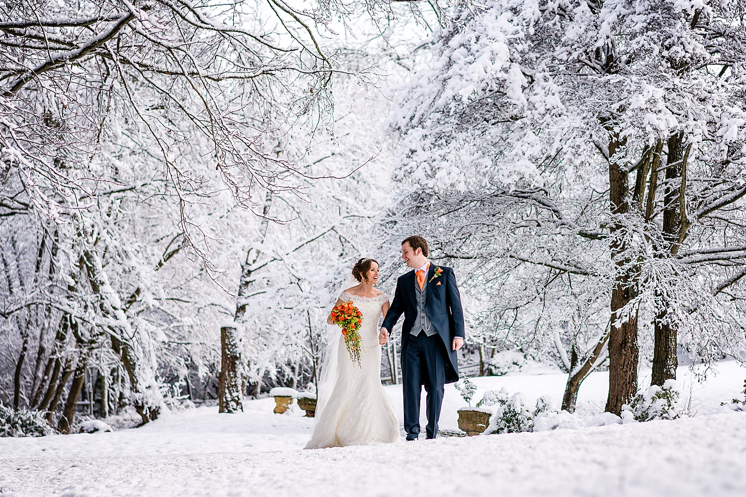 mill barns christmas wedding