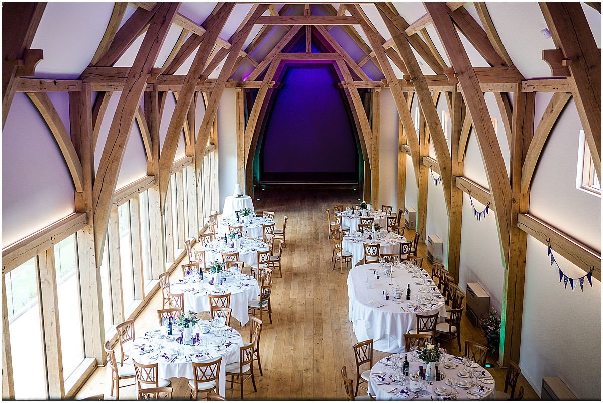 mill barns wedding breakfast room