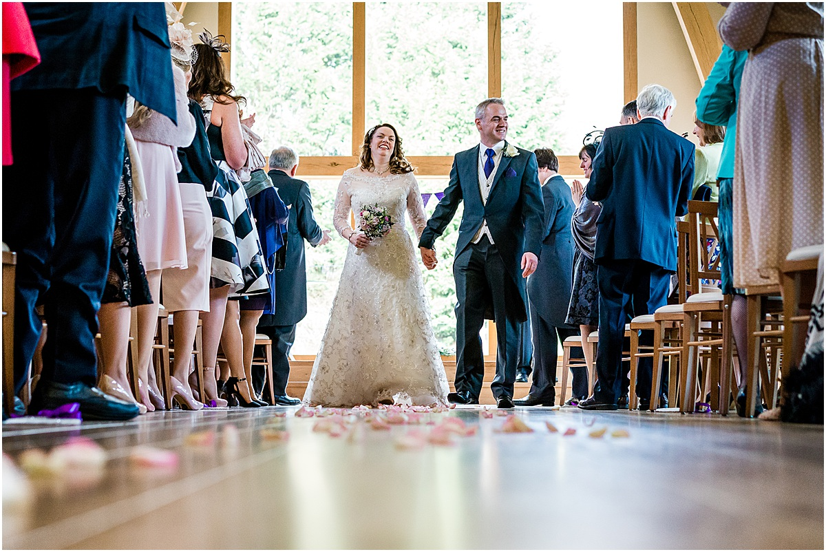 wedding ceremony at Mill barns