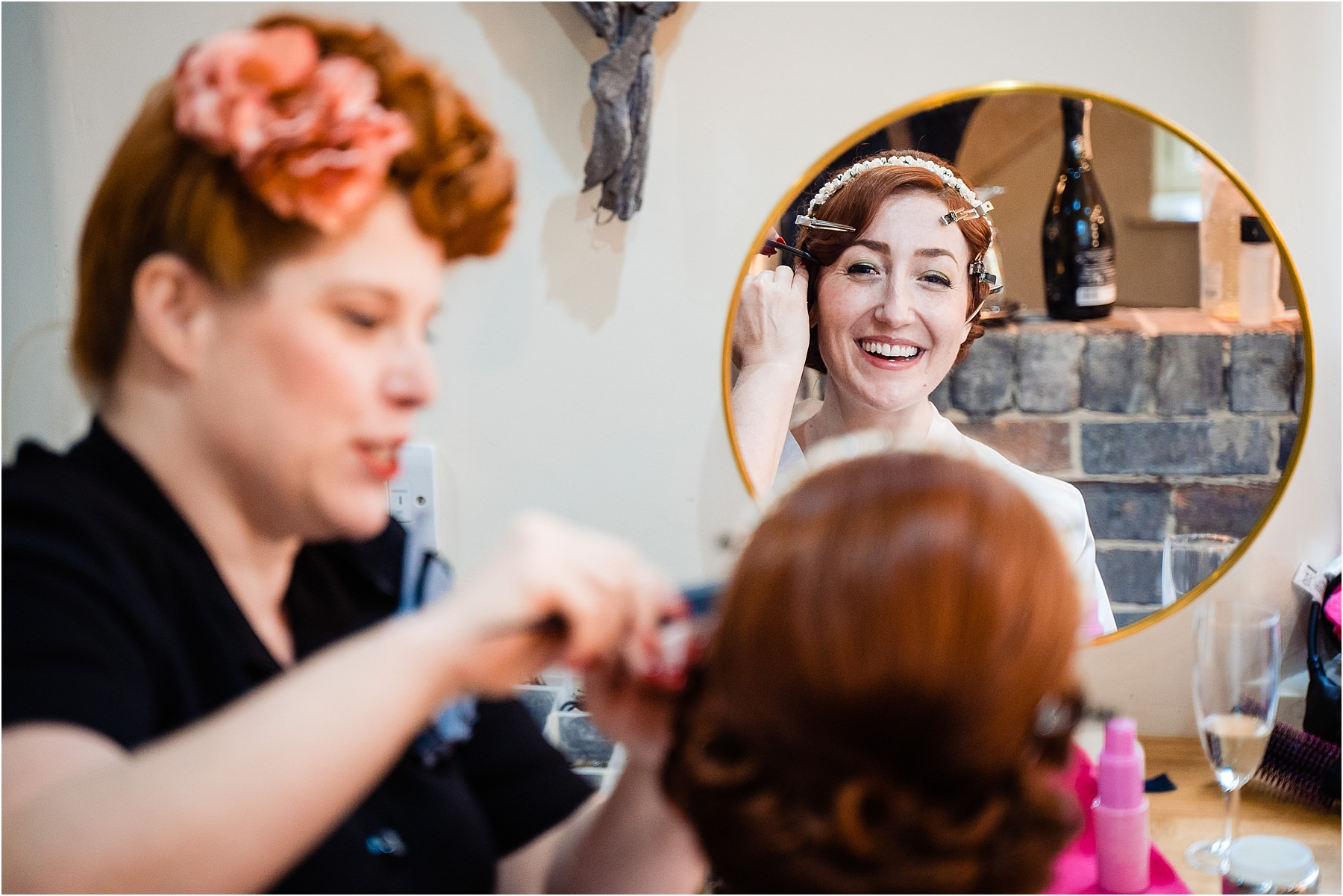 bridal prep at the ashes