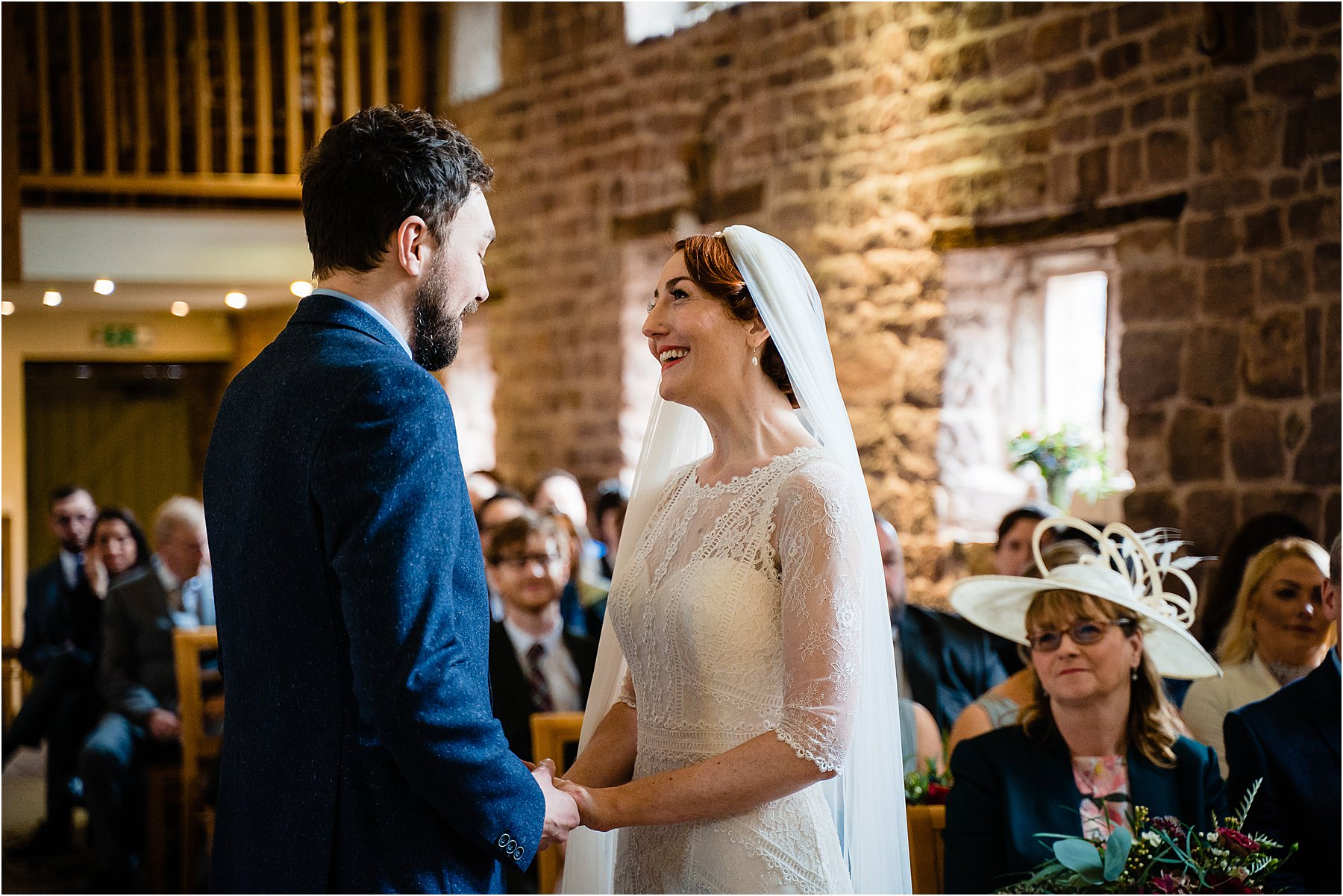 wedding ceremony at the ashes barns
