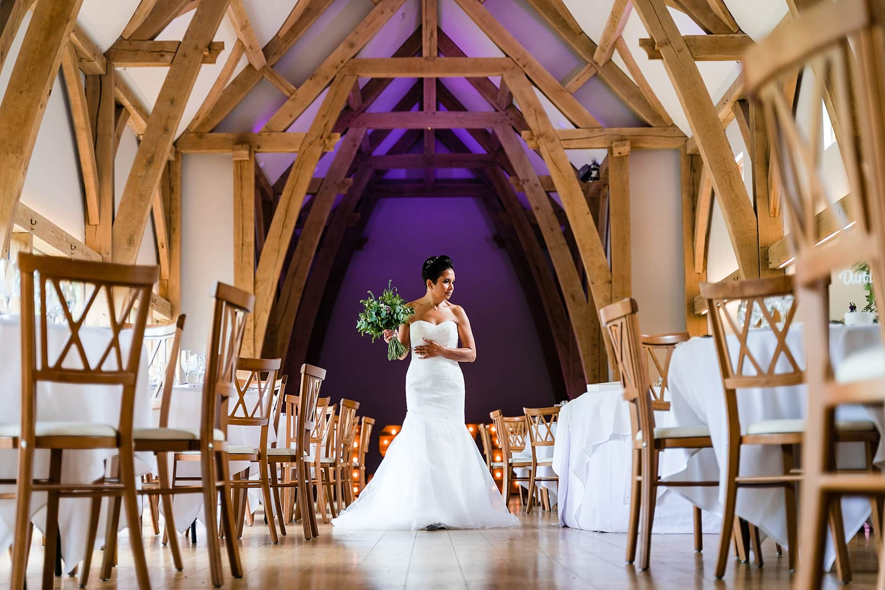bride at the mill barns