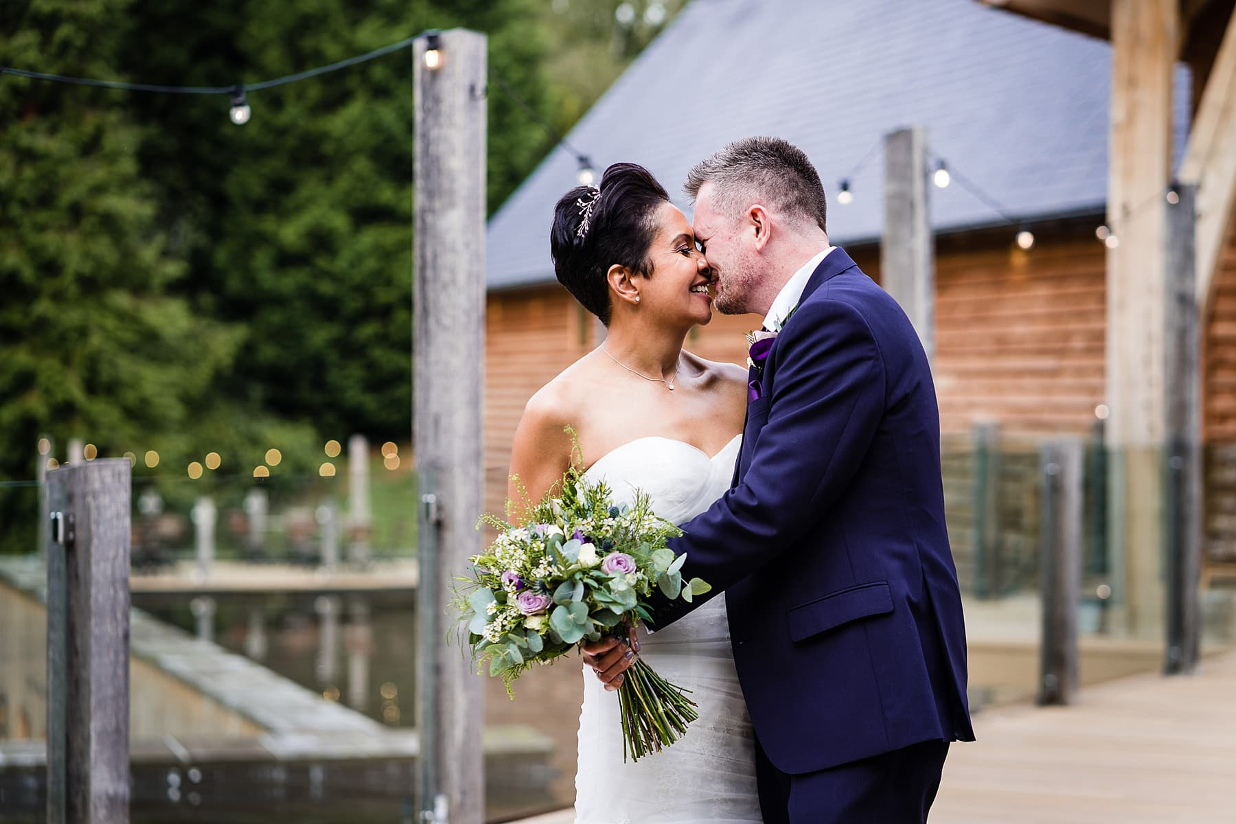 bride and groom portraits at the mill barns