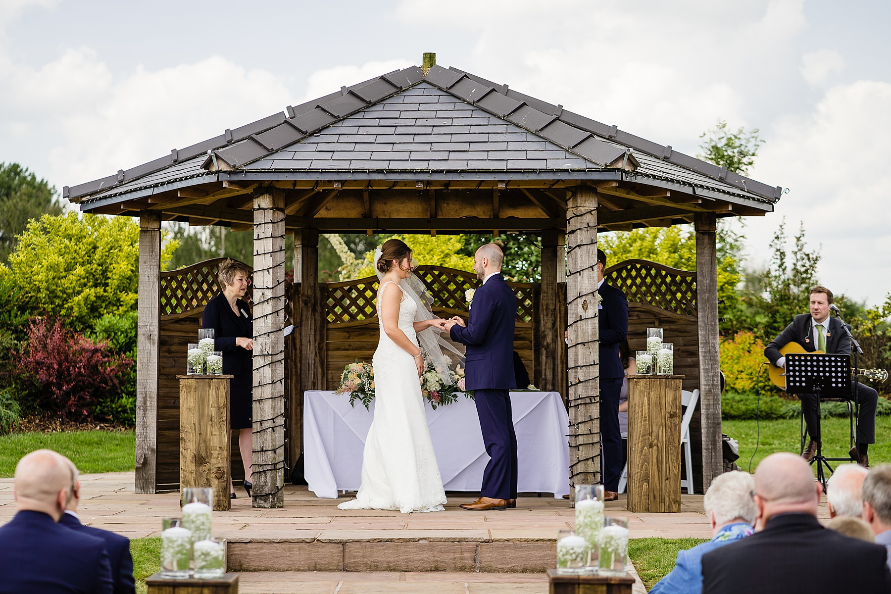 outdoor ceremony at aston marina