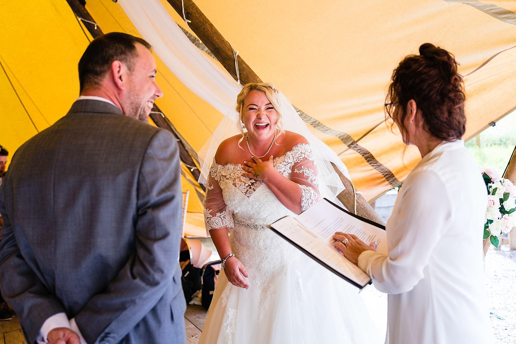 wedding at bridal barn